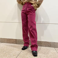 80s dead stock corduroy pants (PNK)