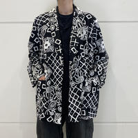 90s all patterned easy tailored jacket (DEAD STOCK)