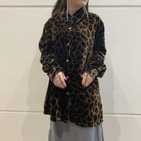 leopard patterned velours L/S shirt (BRN)