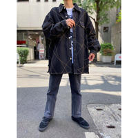 oversized stitch design denim jacket