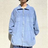 90s~ zip up corduroy shirt