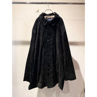 L/S black suede leather jacket