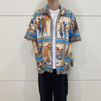 90s~ all patterned 2pockets shirt
