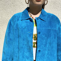 90s suede leather shirt