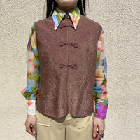 80s china design no-sleeve shirt