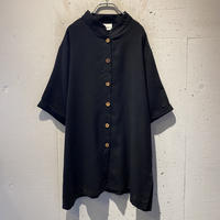 S/S band collar shirt