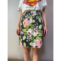 80年代 花柄スカート