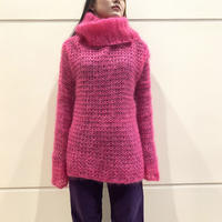 old turtle neck mohair knit