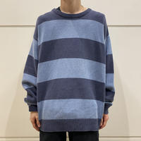 90s striped cotton knit sweater