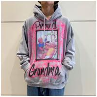 00s print sweat hoodie