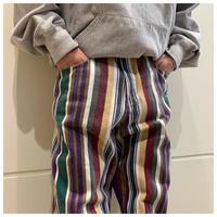 90s cotton stripe pants