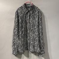90s〜 see-through zebra pattern shirt