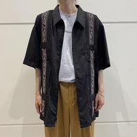 oversized S/S guayabera shirt