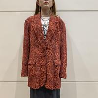 90s leopard patterned silk tailored jacket