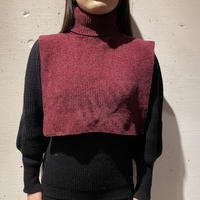 90s〜turtle necked accessory (burgundy)