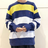 "90s~ ""Polo by Ralph Lauren"" striped cotton knit"