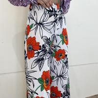 old flower patterned wide easy pants