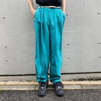 90s 3tucks silk slacks pants