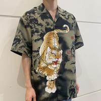 90s~ tiger printed s/s shirt