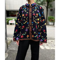 flower pattern embroidery jacket