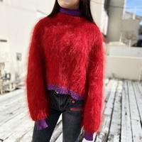 90s〜short & wide design knit sweater