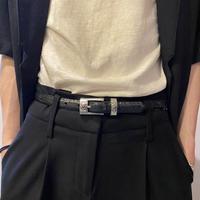 python design leather belt