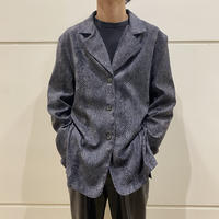 90s oversized python patterned shirt