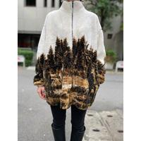old deer pattern fleece jacket