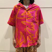 90s vivid color s/s hawaiian shirt