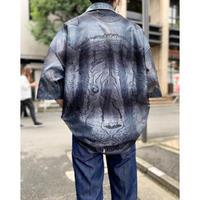 gradation design mesh shirt