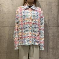 90s fringe design jacket