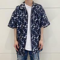 90s~ shiny fire patterned shirt