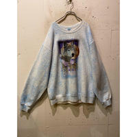 90s wolf print sweat shirt