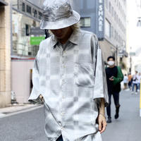 oversized shiny S/S shirt with hat