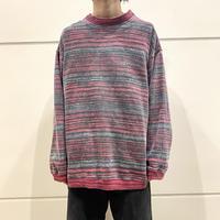 """90s~ """"GOTCHA"""" all patterned sweat shirt"""