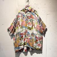 80s all pattern rayon shirt