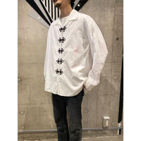 80s〜china design white shirt