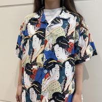 """90s~ """"浮世絵"""" printed shirt"""
