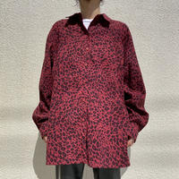 oversized L/S fake suede shirt