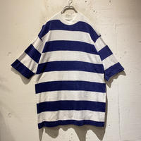 "70s〜 ""Kmart"" striped pile fabric tee"