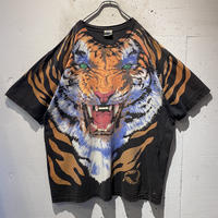 "95s ""LIQUID BLUE"" tiger print T-shirt"