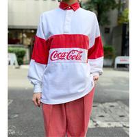 """80s """"Coca-Cola"""" rugger shirt"""