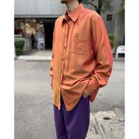 90s L/S shiny rayon blend shirt(ORG)