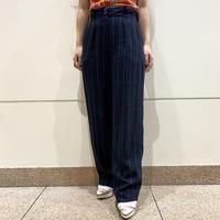 80s striped 2tucks slacks pants