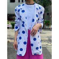 90s dots pattern tailored jacket