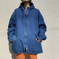90s oversized  zip up denim jacket