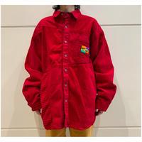 90s oversized corduroy swithing shirt