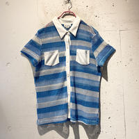 90s~ s/s mesh striped shirt