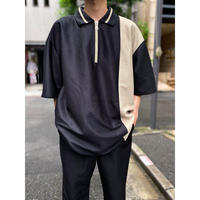 oversized half zip S/S shirt