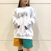 90s~ cat printed sweat shirt
